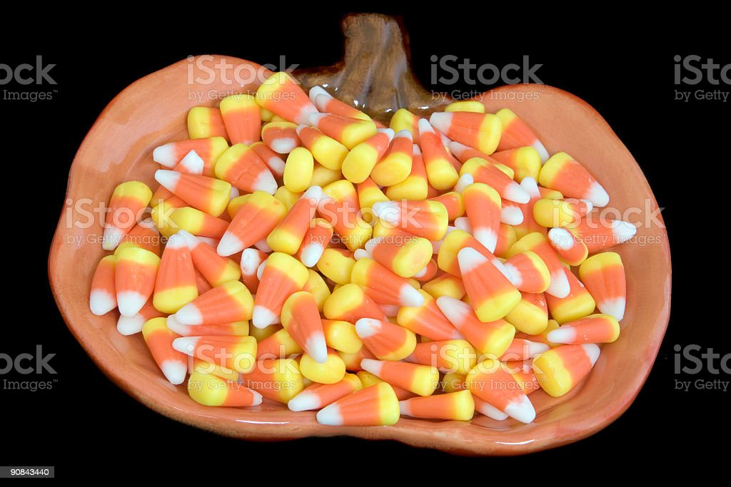 Candy Corns Plate royalty-free stock photo