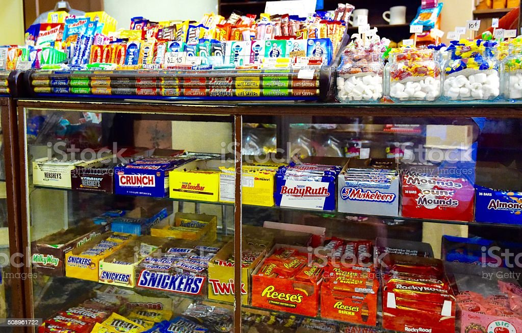 Candy Counter stock photo