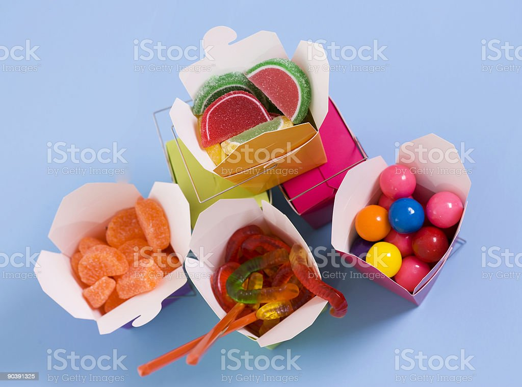 Candy Dinner to Go stock photo