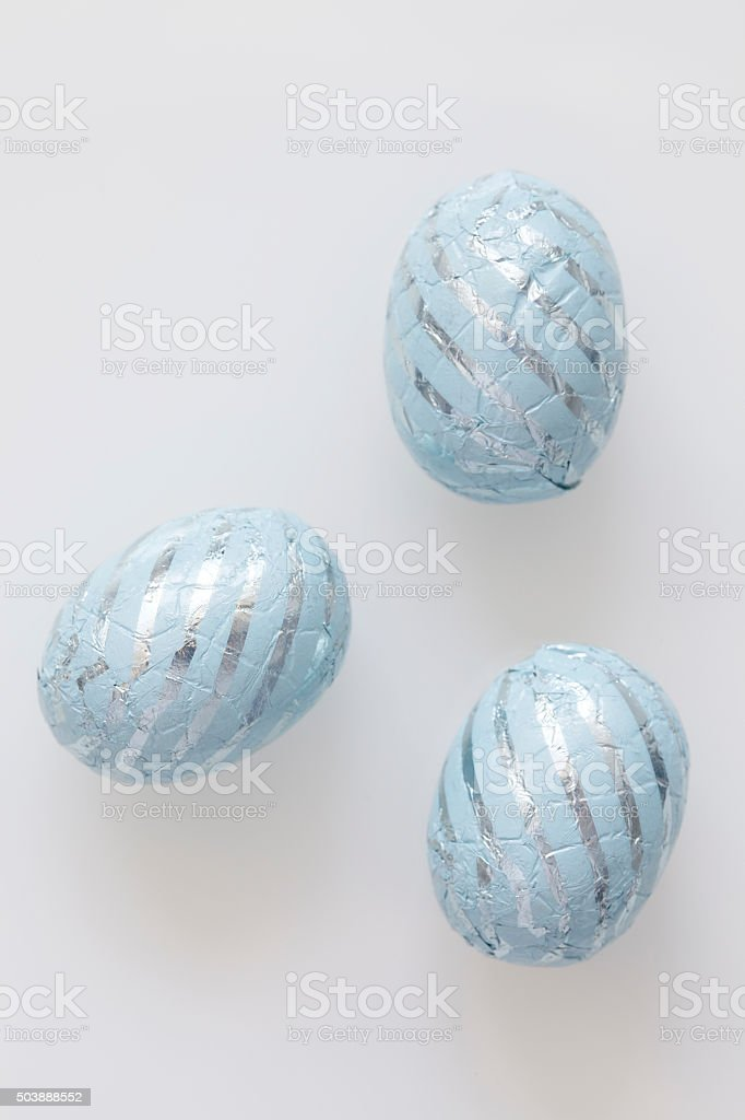 Candy: Easter Eggs on White stock photo