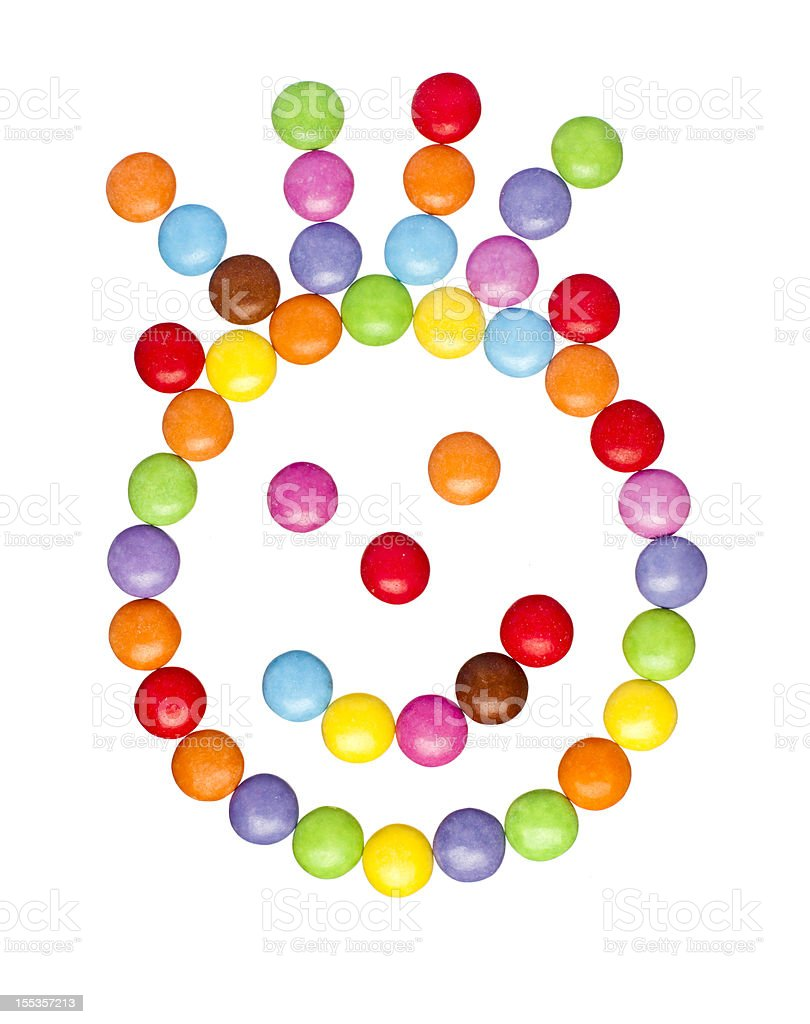 Candy Face. stock photo