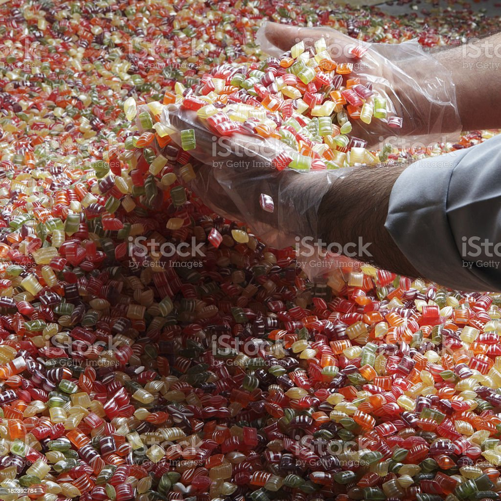 Candy Factory stock photo
