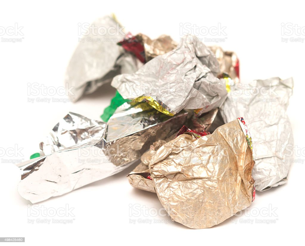 candy foil stock photo
