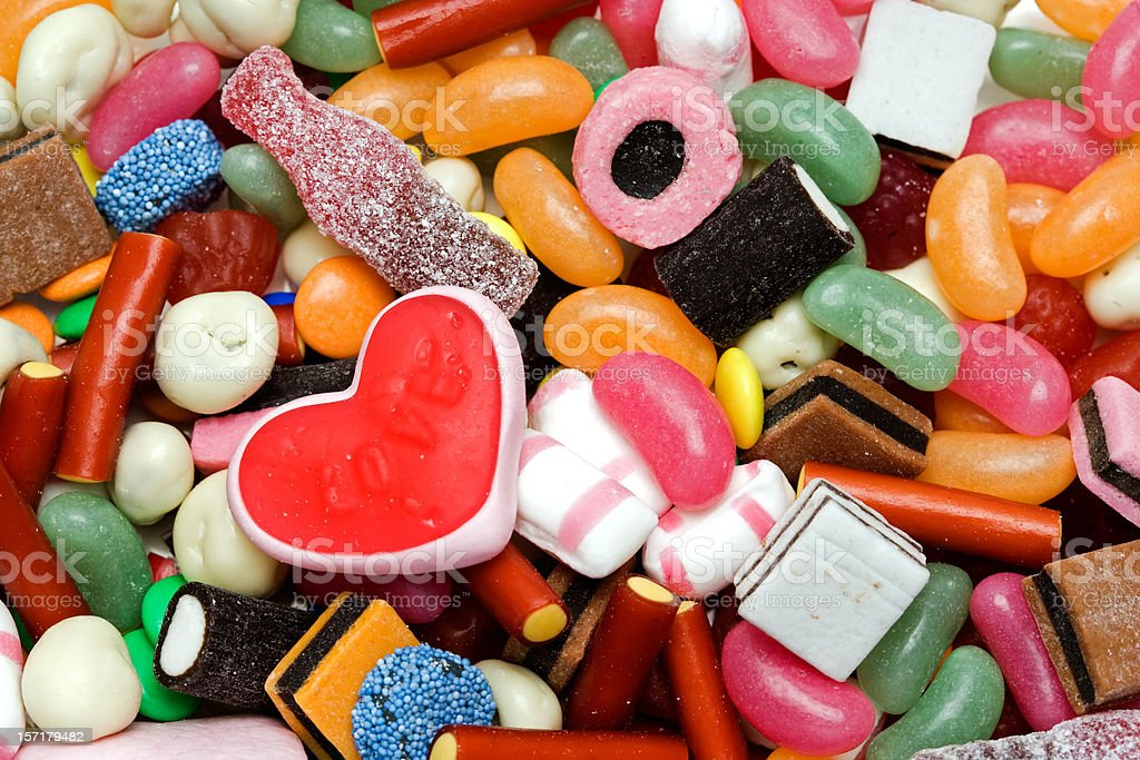 Candy for Valentine stock photo