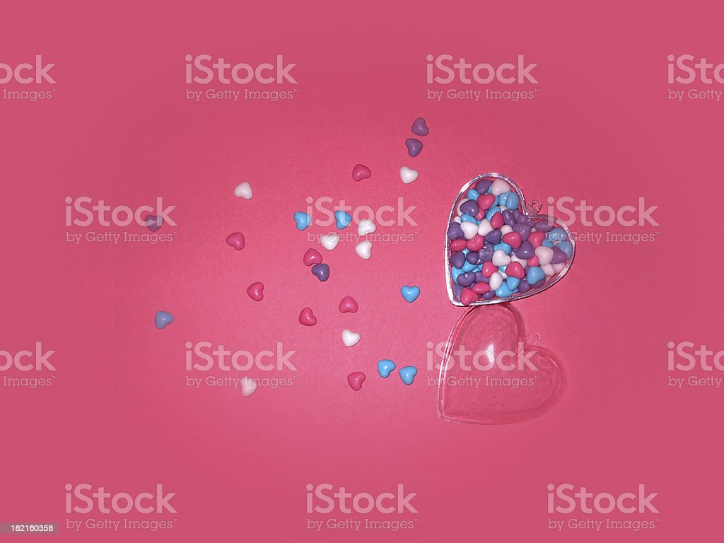 Candy for Valentine's Day royalty-free stock photo