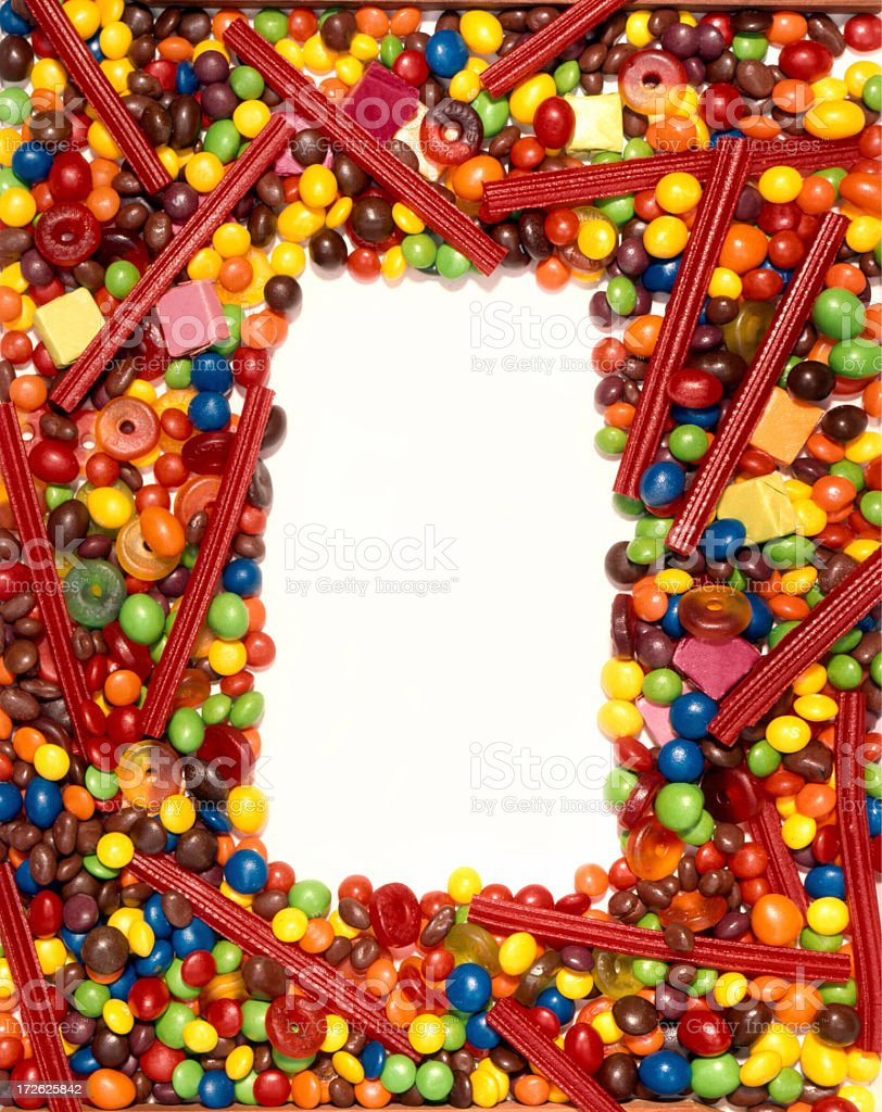 candy frame royalty-free stock photo