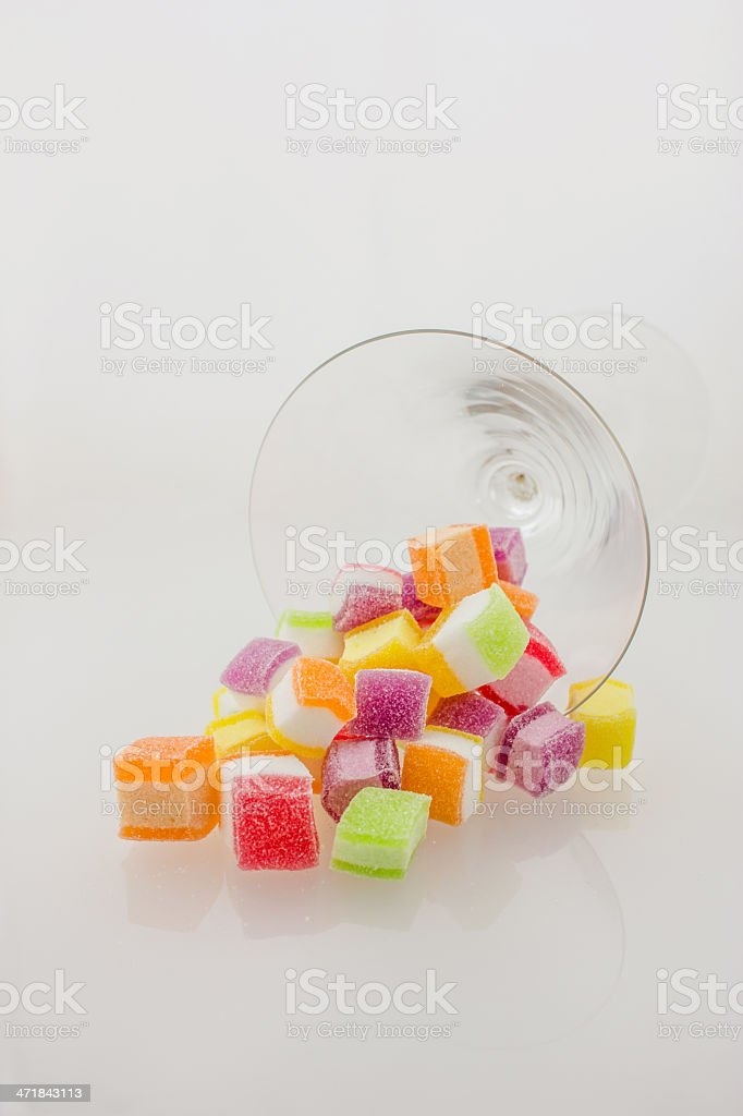 Candy fruit on a white background royalty-free stock photo