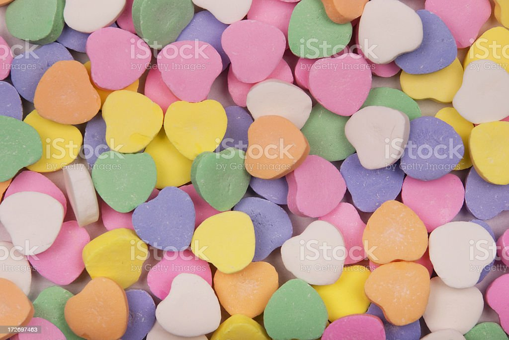 Candy Heart Background stock photo