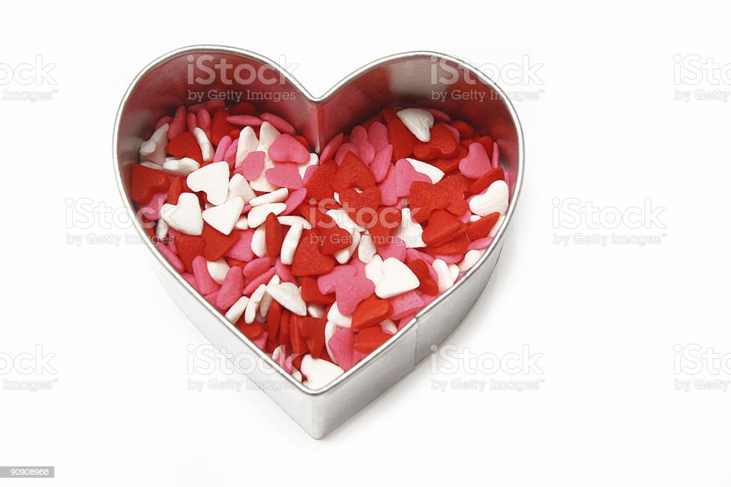 Candy Heart Cookie Cutter stock photo
