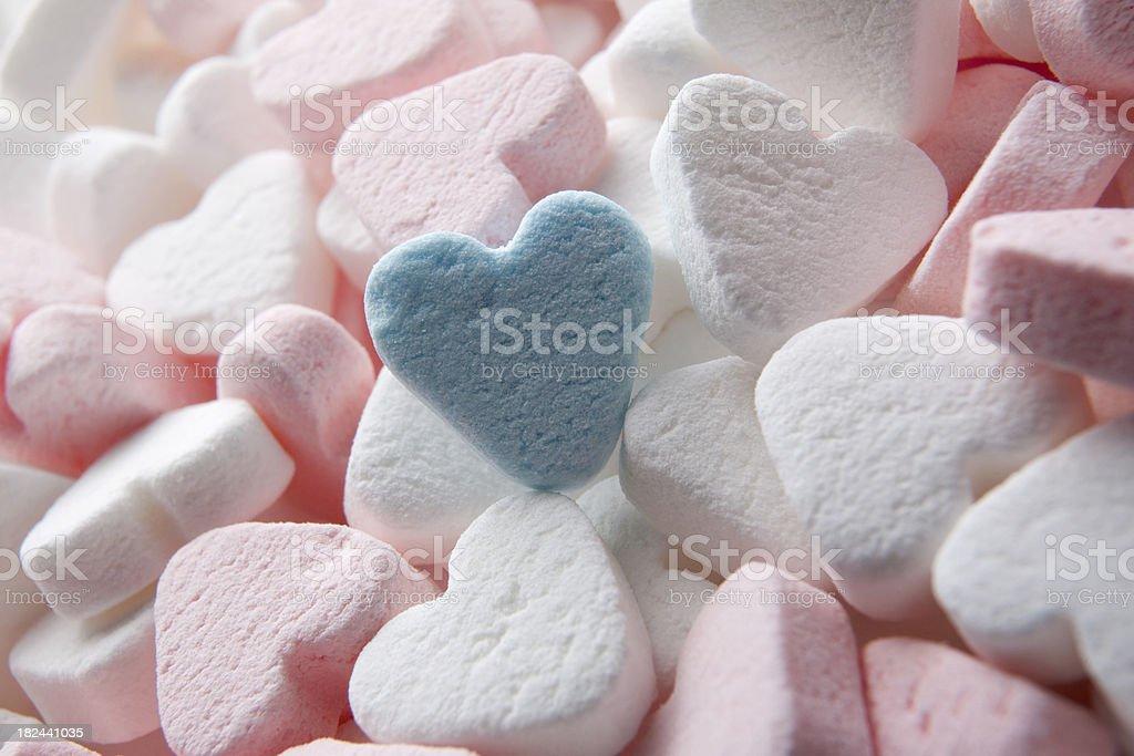 Candy: Heart Shaped stock photo