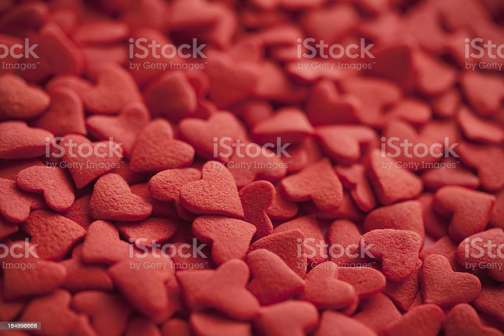 Candy heart Valentine's Day background stock photo