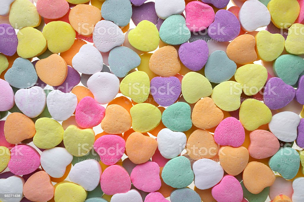 Candy Hearts royalty-free stock photo