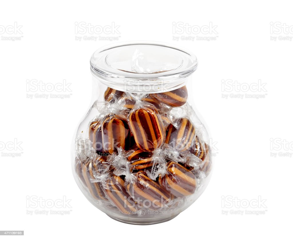 Candy in a jar royalty-free stock photo