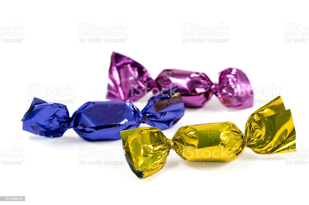 candy in colorful foil stock photo