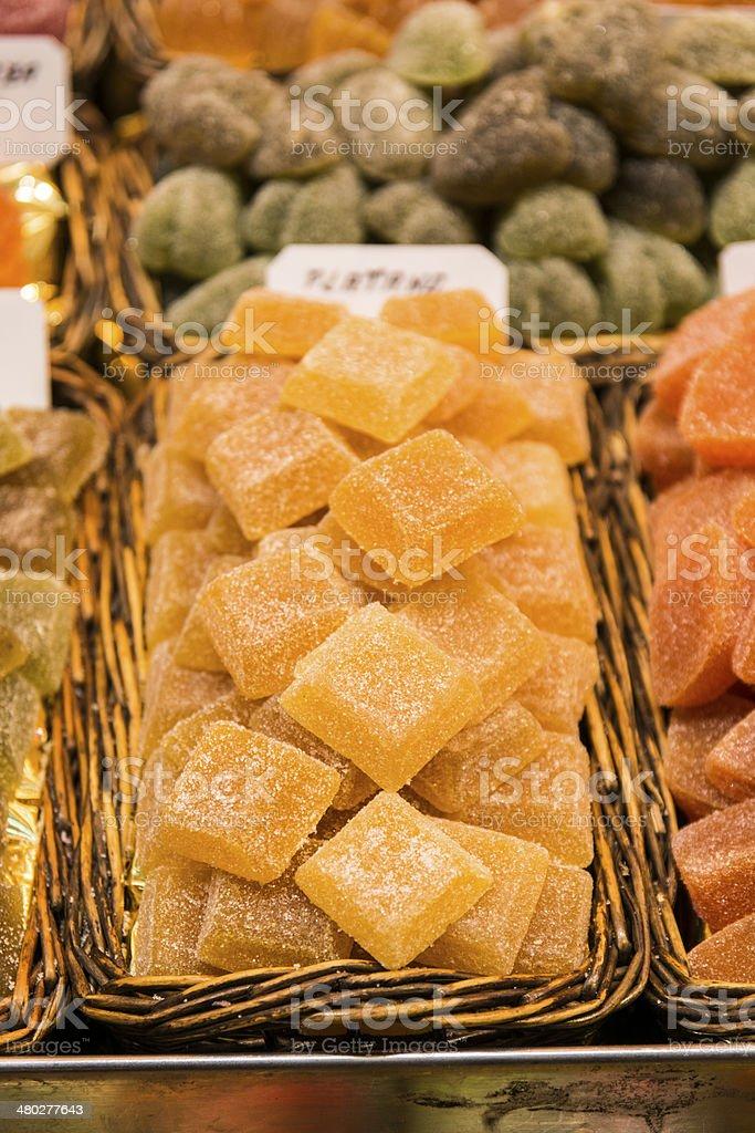 Candy in the Boqueria Market stock photo