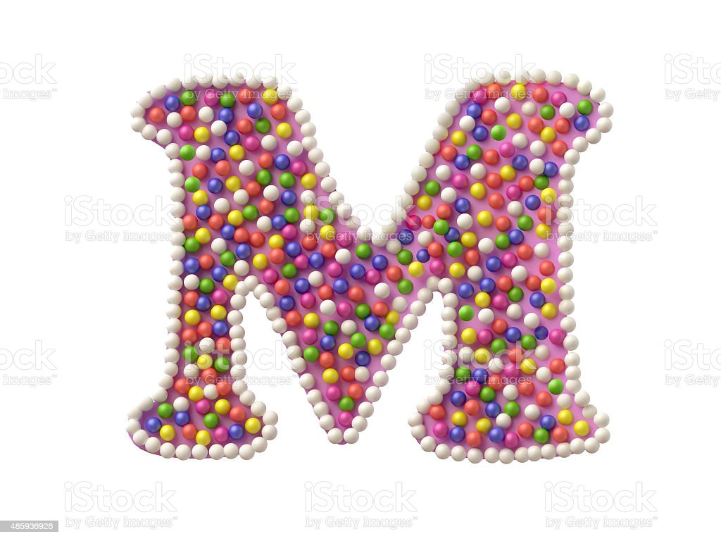 Candy Letter M stock photo