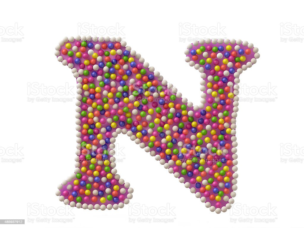 Candy Letter N stock photo