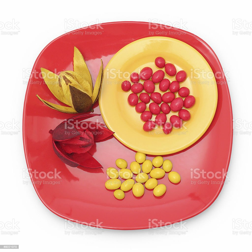 Candy on plate royalty-free stock photo
