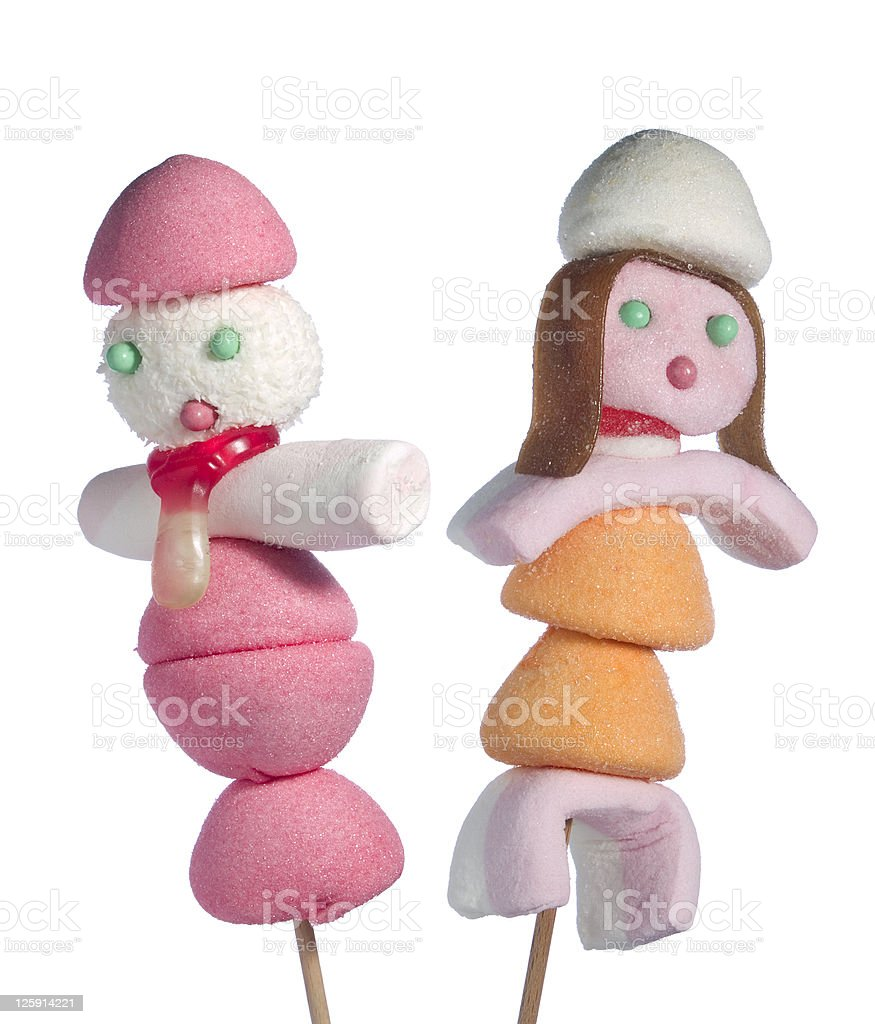 Candy people royalty-free stock photo