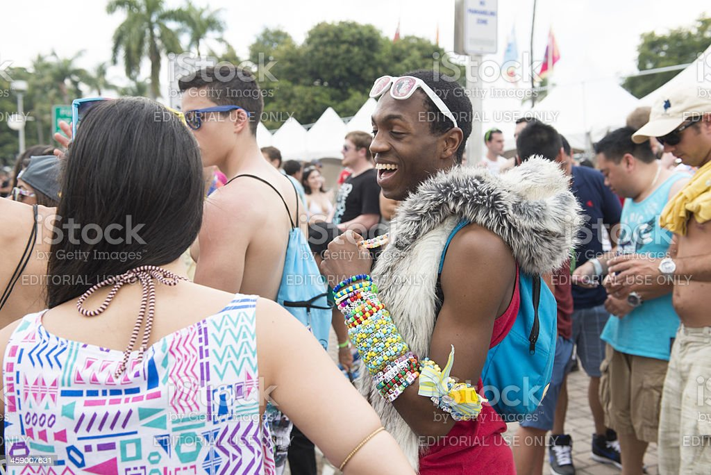 EDM Candy Raver Subculture stock photo