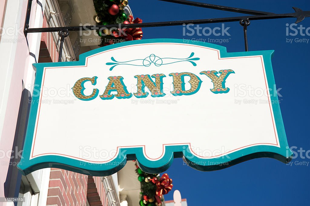 Candy sign royalty-free stock photo