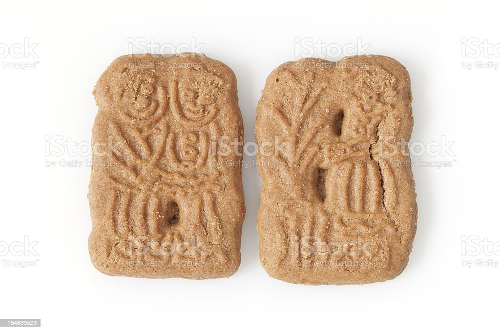 Candy: Speculaas Cookies on White stock photo