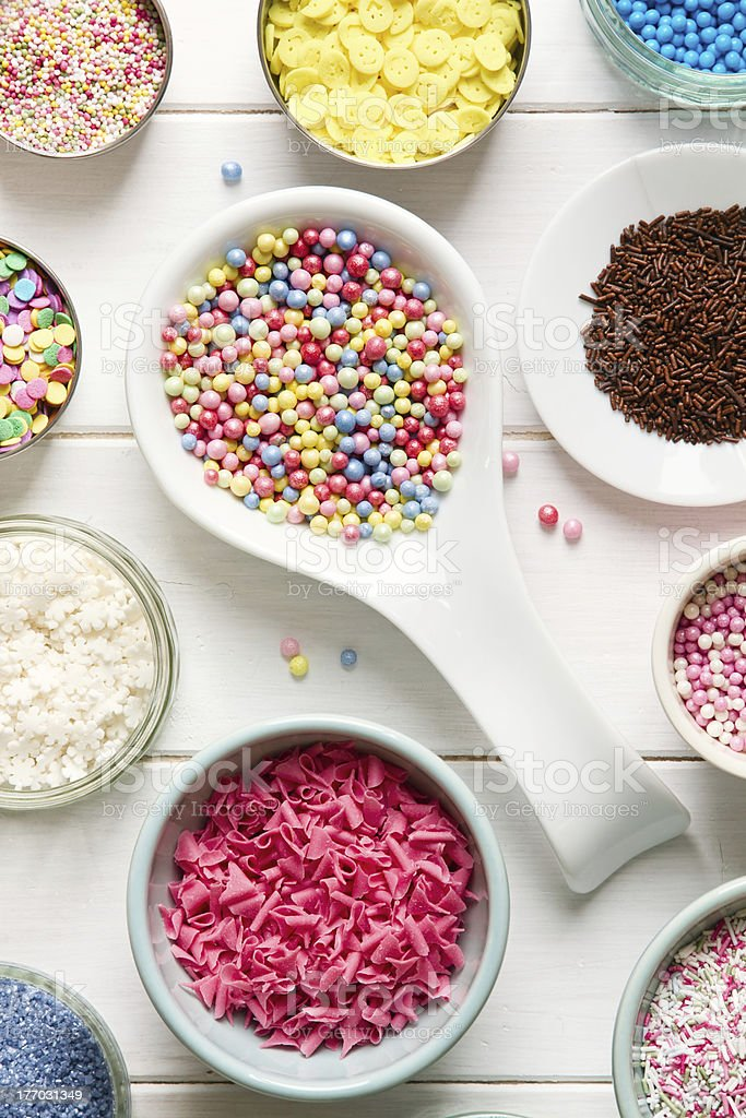 Candy sprinkles stock photo