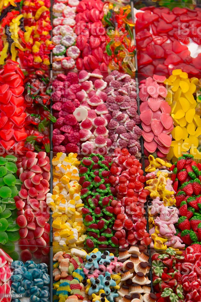 Candy stand stock photo