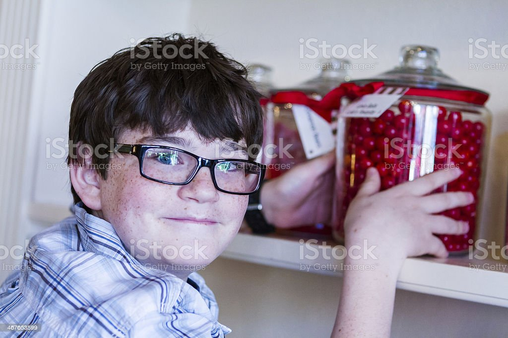 Candy store stock photo