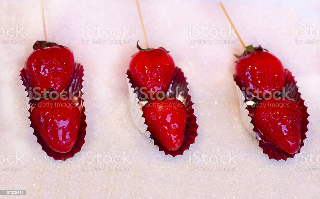 Candy Strawberries stock photo