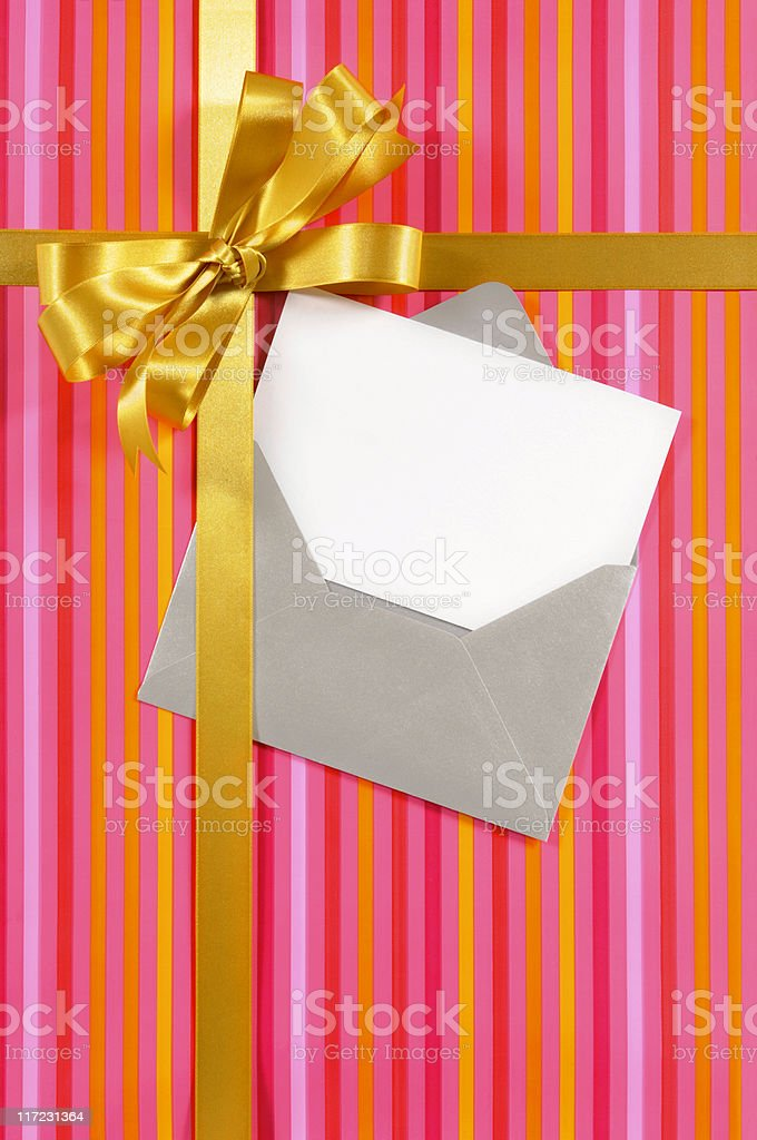 Candy stripe gift royalty-free stock photo