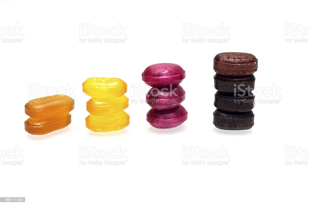 Candy Towers royalty-free stock photo