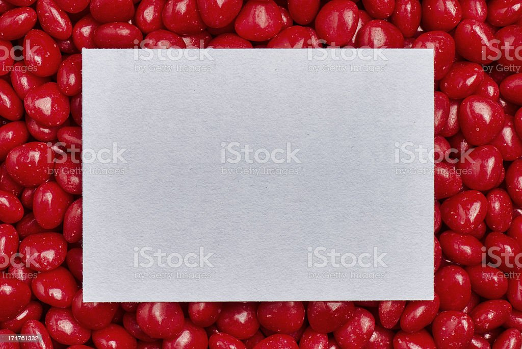 Candy Valentine Hearts Love Note royalty-free stock photo