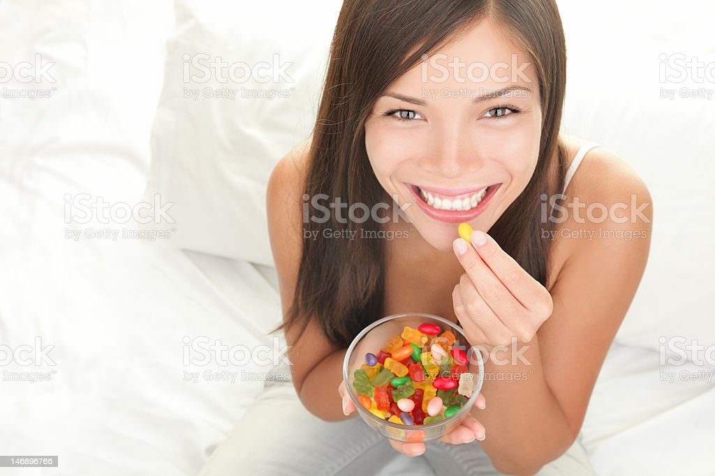 Candy woman stock photo