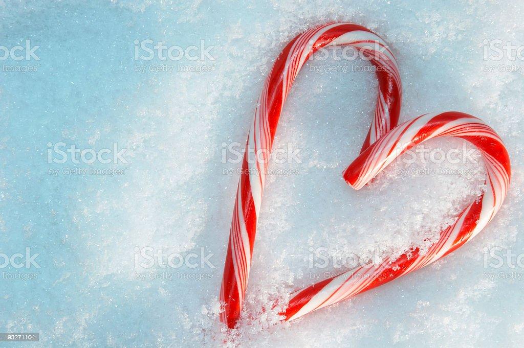 Candycane Hearts royalty-free stock photo