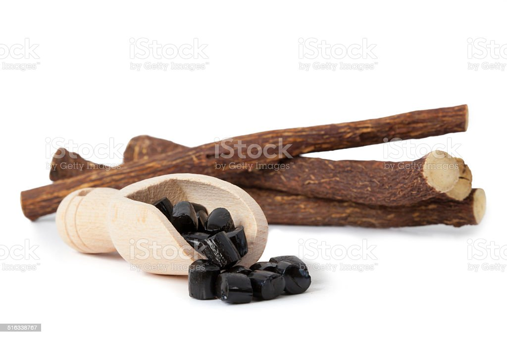 Candy-flavored licorice stock photo