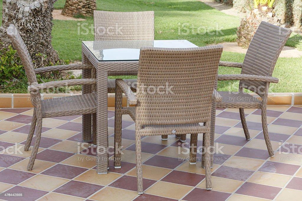 Cane furniture royalty-free stock photo