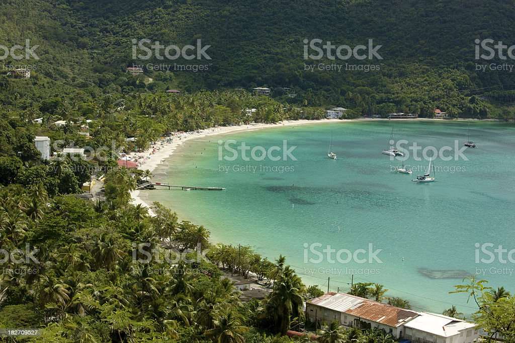 Cane Garden Bay, Tortola, BVI, Caribbean, Beach stock photo