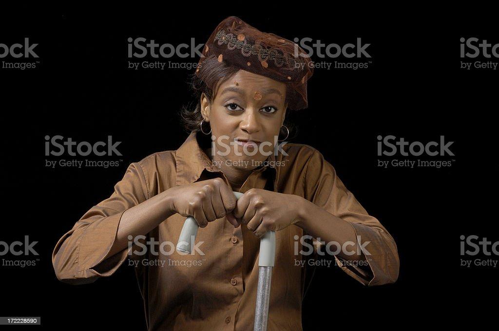 Cane grasp stock photo