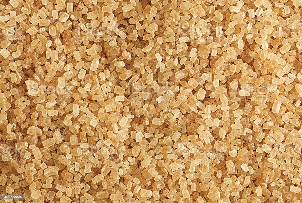 Cane sugar coarse-grained royalty-free stock photo
