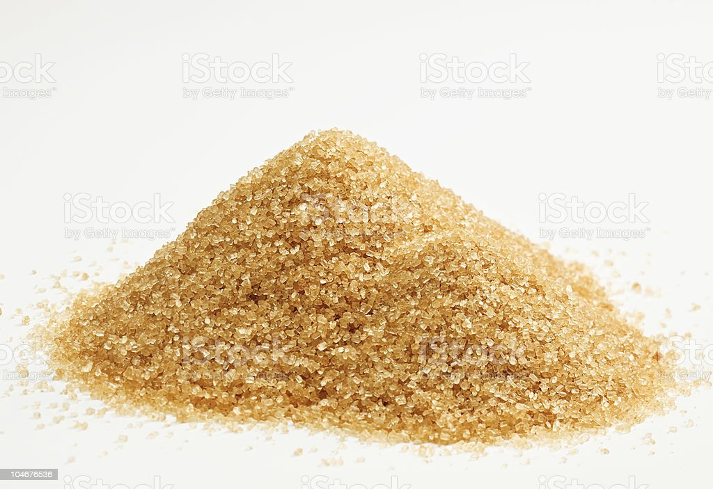 Cane sugar hill isolated on white stock photo