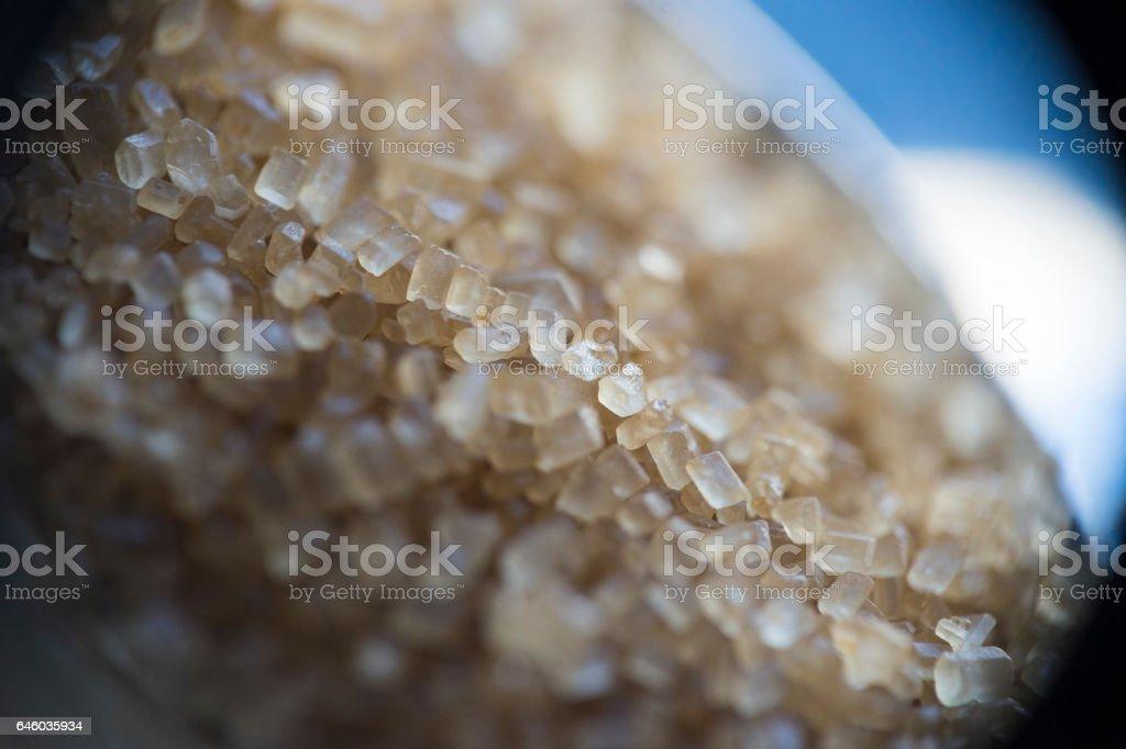 Cane sugar macro stock photo