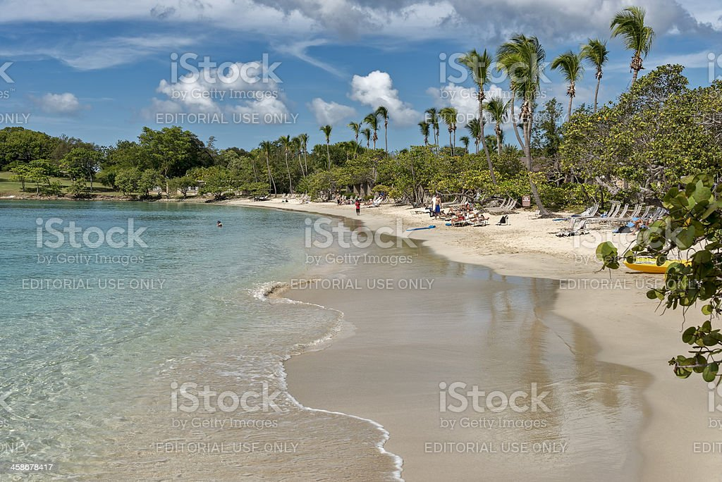 Caneel Bay Beach in the Virgin Islands stock photo