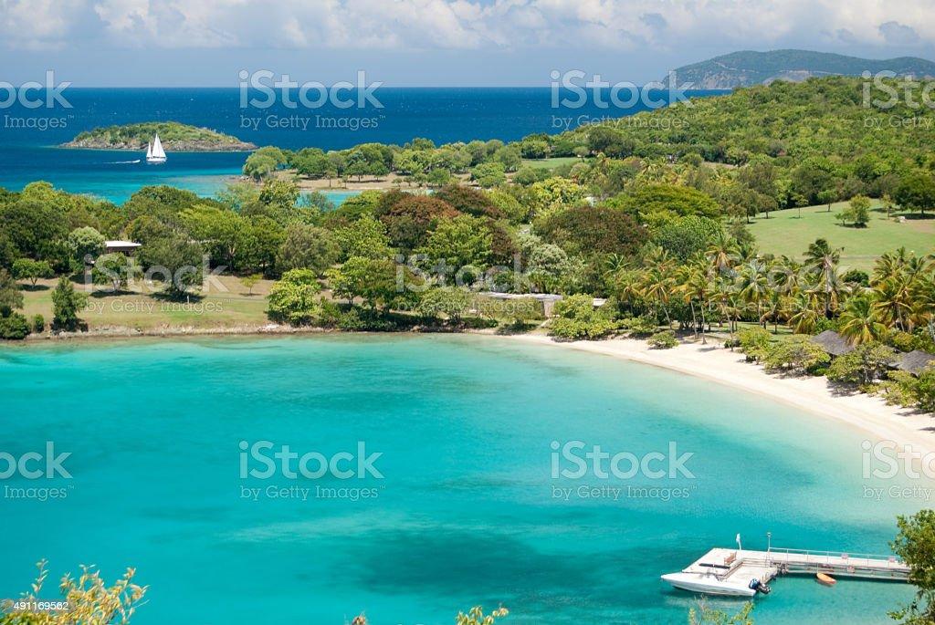 Caneel Bay beach - Saint John, United States Virgin Island stock photo