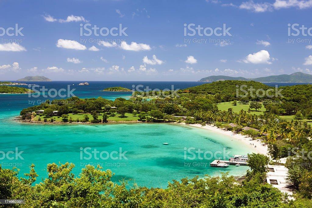 Caneel Bay in St. John, US Virgin Islands stock photo