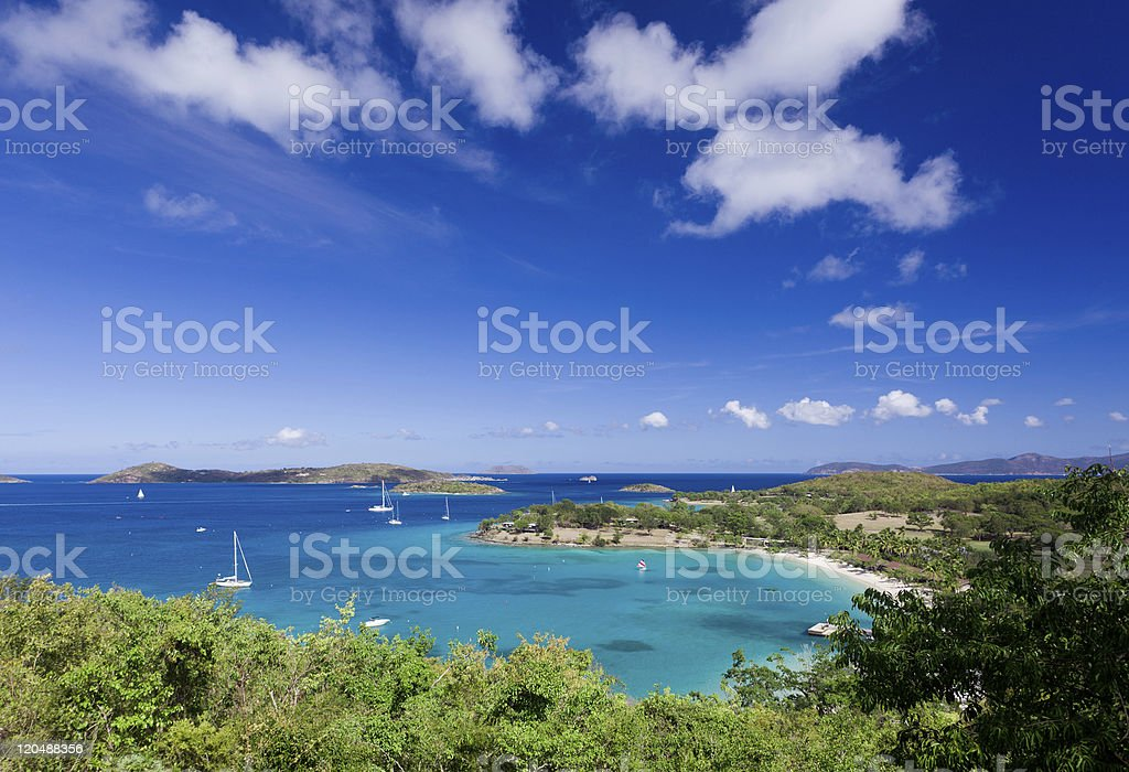 Caneel Bay on St John stock photo