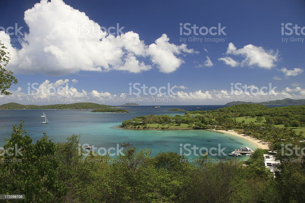 Caneel Bay on St. John stock photo