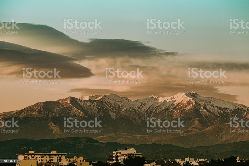 le Canigou stock photo
