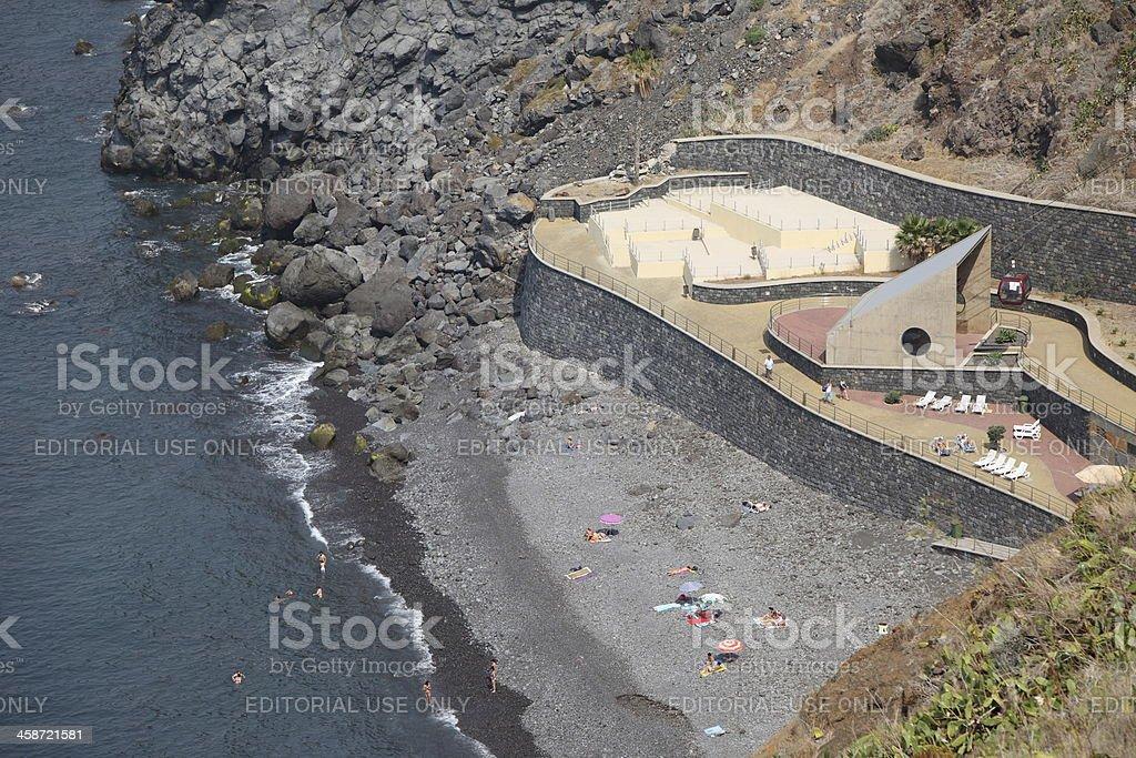 Caniço beach in Madeira royalty-free stock photo