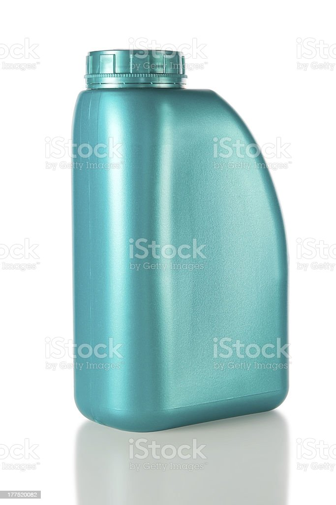 Canister engine oil. With the shadow. royalty-free stock photo